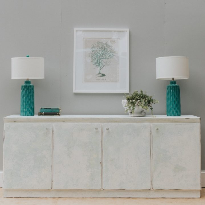 Saltwash painted coastal furniture-two saltwash layers painted with white top coat-contemporary shabby chic