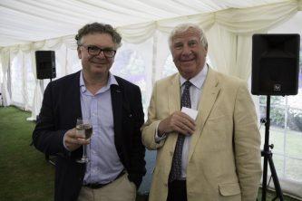 Na zdjęciu, od lewej, Pan Zdzisław Krzeczowski - Prezes Newmor Polska_z Jamesem Morrisem(z rodziny Morrisów)_Zdjęcie pochodzi z 50-lecia Newmor Group w Welshpool