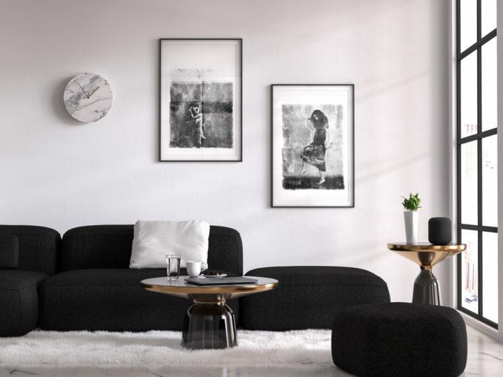 Kompozycja prac Sylwii Mużyło: Photography 1 i Photography 2, technika własna.