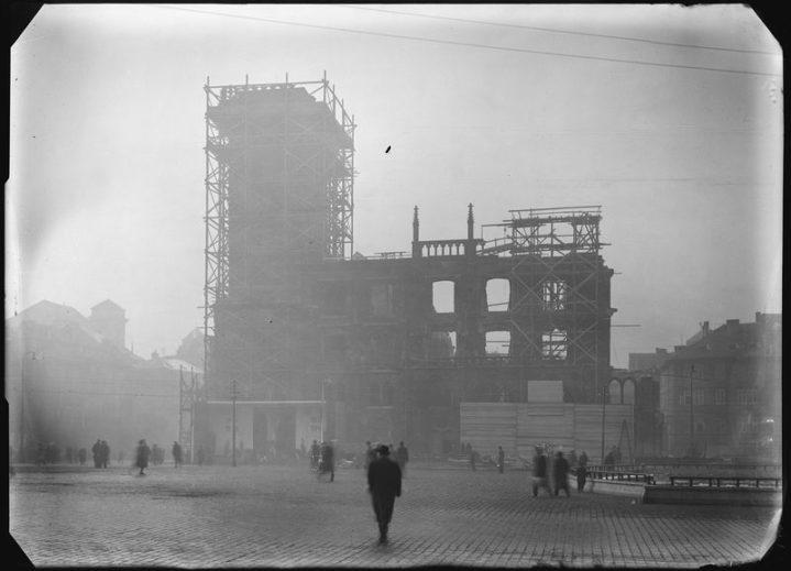 Topografia ruin. Praga 1945 fot. Josef Sudek